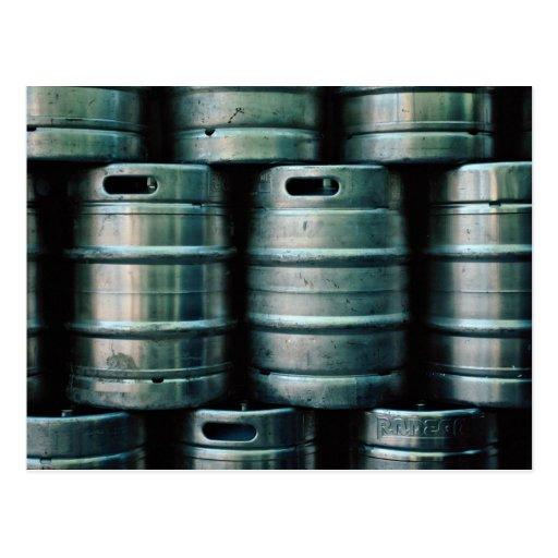 Geometric beer barrels, Czech Republic Postcard