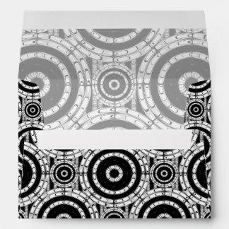 Geometric black and white envelope
