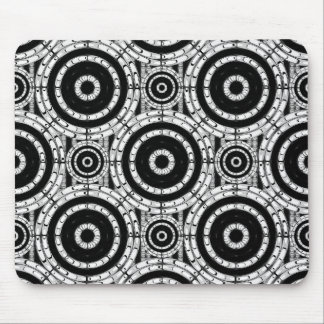 Geometric black and white mouse pad
