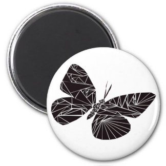 Geometric black butterfly magnet