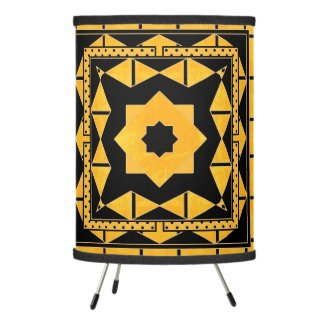 Geometric Black Ocher Pattern Lamp
