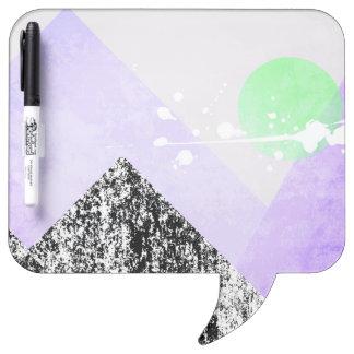 Geometric Black Purple Mountains Design Quilt Art Dry Erase Board