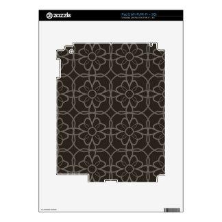 Geometric Black Starburst Pattern  This simple col iPad 2 Skins