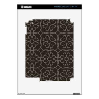Geometric Black Starburst Pattern  This simple col iPad 3 Decals