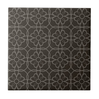 Geometric Black Starburst Pattern  This simple col Tile