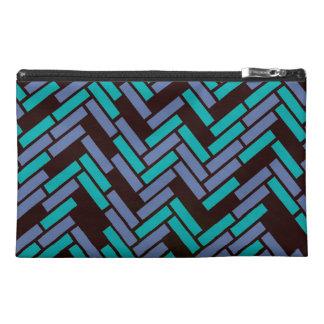 Geometric Black, Teal and Purple Bag Design