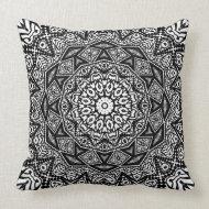 Geometric Black White Modern Batik Cushion Pillows