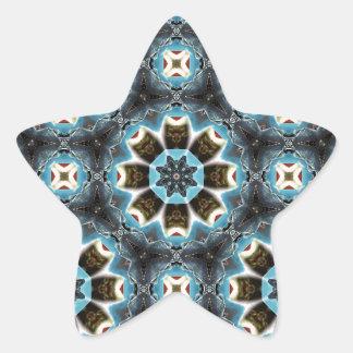 Geometric Bliss Star Sticker