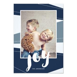 Geometric Block | Blue Joy Photo Card