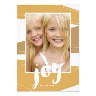 Geometric Block | Gold Tone Joy Photo Card