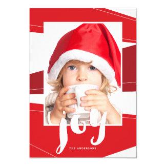 Geometric Block | Red Joy Photo Card