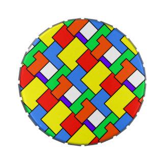 Geometric Blocks 33 Jelly Belly Candy Tin