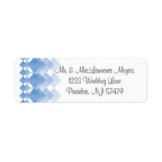 Geometric Blue Diamonds | Wedding Label