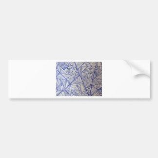 Geometric Blue Lines Pattern Bumper Stickers