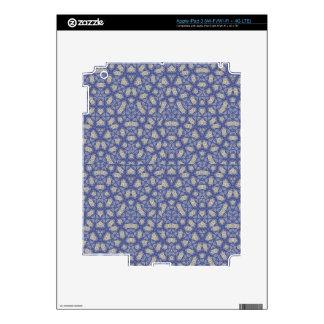 Geometric Blue Pattern iPad 3 Decals
