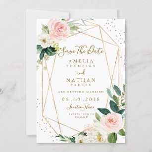 Photo Cards #satd-251 5 x 7 Floral Watercolor Wedding Announcement Card Save The Date Cards Save The Dates Custom Save the Date