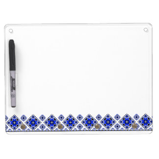 Geometric Boarder Pattern - Blue - Board 2
