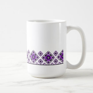 Geometric Boarder Pattern - Purple - Mug