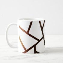 geometric brown and black  lines  pattern mug