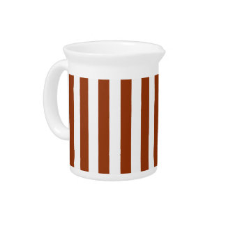 Geometric Brown Stripes on any Color Pitcher