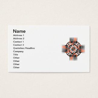 Geometric celtic cross business card