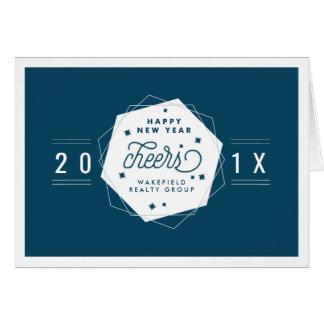 Geometric Cheer | 2017 New Year Corporate Card