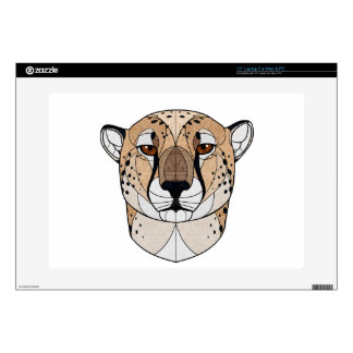 Geometric Cheetah Laptop Skins