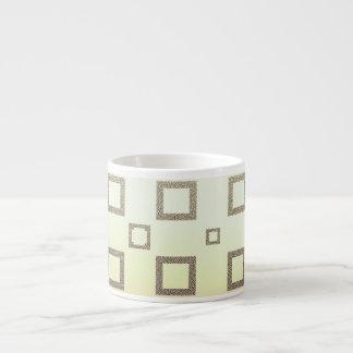 Geometric Chocolate Ice Cream Pattern Espresso Cup