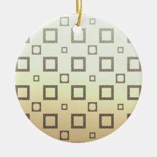 Geometric Chocolate Ice Cream Pattern Ornaments