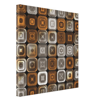 Geometric chocolate pattern canvas print