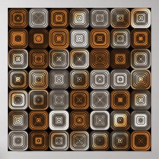 Geometric chocolate pattern poster