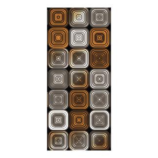 Geometric chocolate pattern rack card