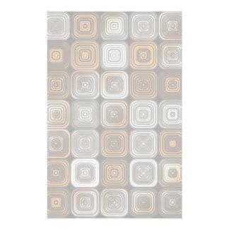Geometric chocolate pattern stationery