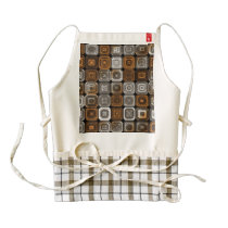 Geometric chocolate pattern zazzle HEART apron