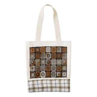 Geometric chocolate pattern zazzle HEART tote bag