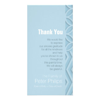 Geometric Choose Color 1 Sympathy Thank You Card