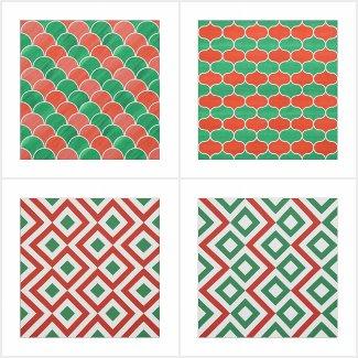 Geometric Christmas Fabrics
