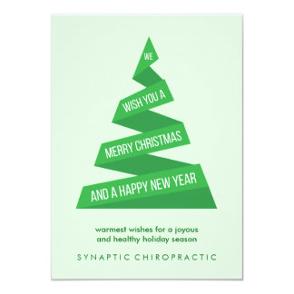 Geometric Christmas Tree Corporate Christmas Cards