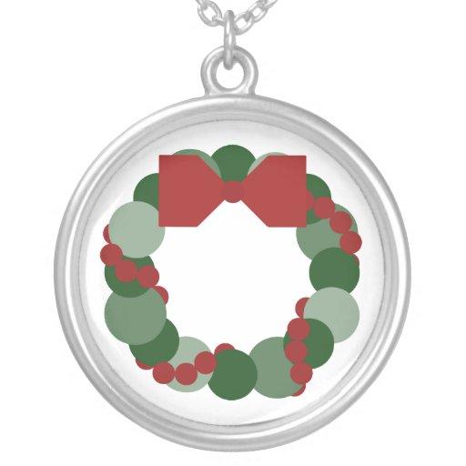 Geometric Christmas Wreath Pendant