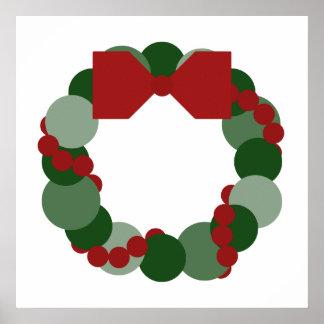 Geometric Christmas Wreath Poster