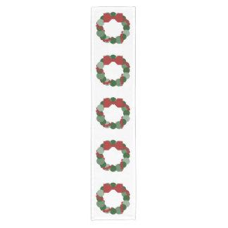 Geometric Christmas Wreath Table Runner