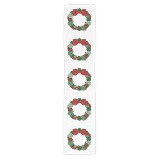 Geometric Christmas Wreath Table Runner Short Table Runner