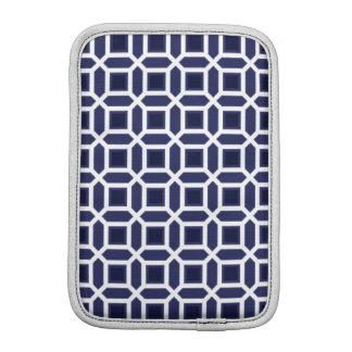 Geometric Circle Pattern Navy Blue iPad Mini Sleeve