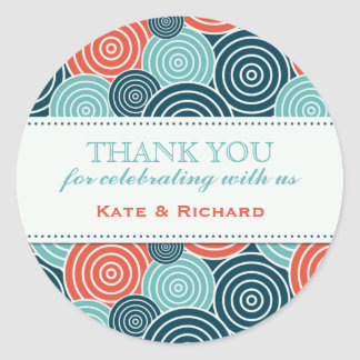 Geometric Circle Pattern Wedding Favor Stickers