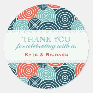 Geometric Circle Pattern Wedding Favor Stickers