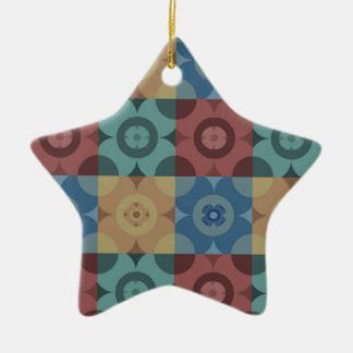 Geometric Circle Repeatable Pattern Ceramic Ornament