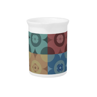Geometric Circle Repeatable Pattern Drink Pitcher