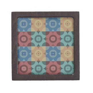 Geometric Circle Repeatable Pattern Jewelry Box