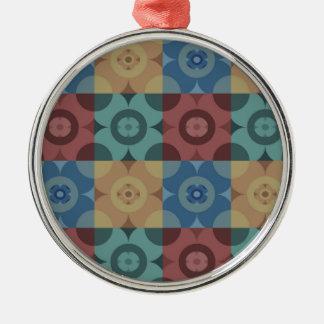 Geometric Circle Repeatable Pattern Metal Ornament