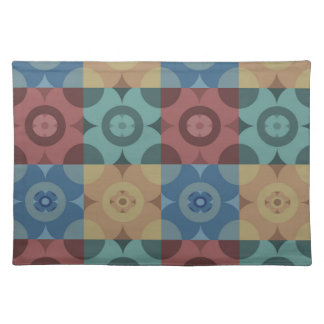 Geometric Circle Repeatable Pattern Placemat